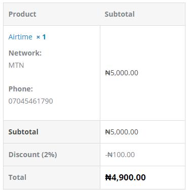 VTU.ng Discount